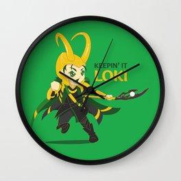 Keepin' it Loki Wall Clock