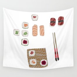 Japanese Sushi Wall Tapestry