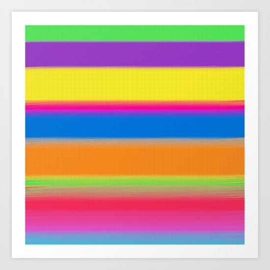 Candy Stripes. Art Print
