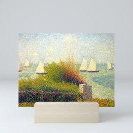 """Georges Seurat """"La rade de Grandcamp (Le port de Grandcamp)"""" Mini Art Print"""