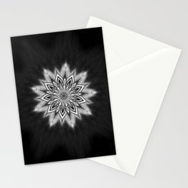 Black Ice Mandala Swirl Stationery Cards