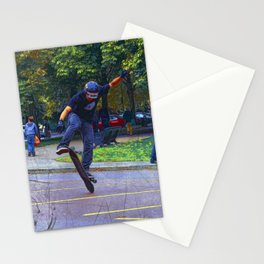 Flipping The Deck  -  Skateboarder Stationery Cards