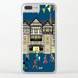 Art Print of Liberty of London Store - Night time Clear iPhone Case