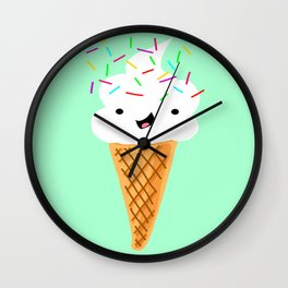 Happiness Is Sprinkles On Your Ice Cream Wall Clock
