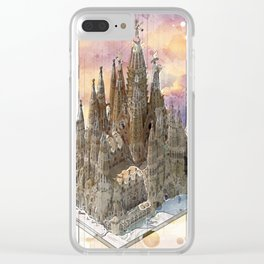 Barcelona Sagrada Familia - axonometric Clear iPhone Case