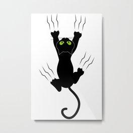 Bad Black Cat Metal Print