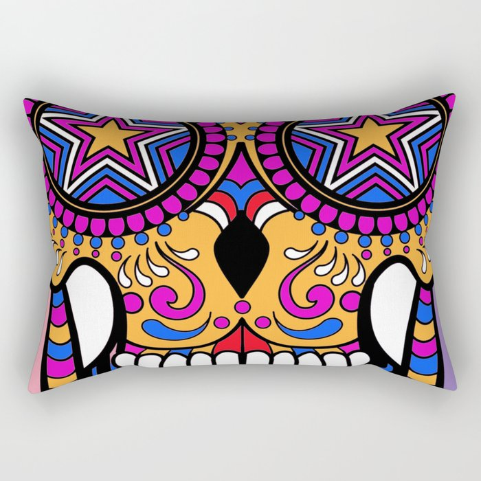 Sugar Skull #1 Rectangular Pillow