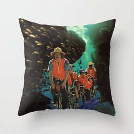 Bike Tour Throw Pillow
