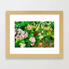 Garden in Blois Framed Art Print