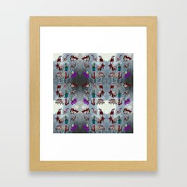 eyeball creatures Framed Art Print