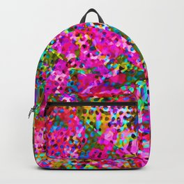 Floral Abstract Stained Glass G548 Backpack