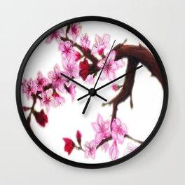 Cerezo en flor Wall Clock
