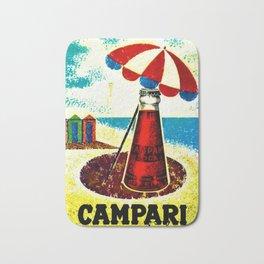 Vintage 1957 Cordial Campari Advertisement Poster Bath Mat