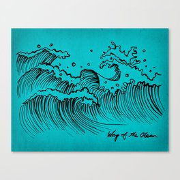 WAY OF THE OCEAN - Waves Print Canvas Print