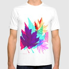 Maple Leaves Falling Mens Fitted Tee White MEDIUM