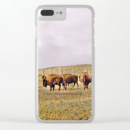 Montana Buffalo Range Clear iPhone Case
