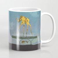yetiland Mugs featuring Dalimt Prehistoric Fantasy by Paula Belle Flores