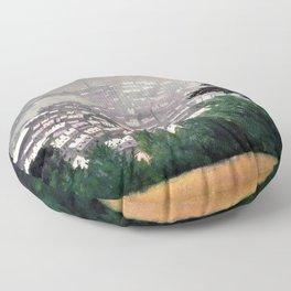Honfleur In The Mist - Digital Remastered Edition Floor Pillow