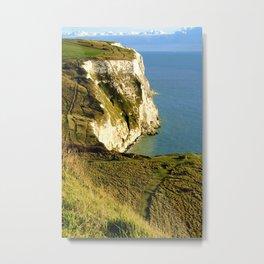 Chalky White Cliffs  Metal Print