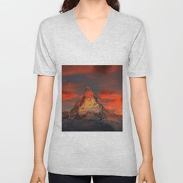 Mountain Matterhorn Switzerland Unisex V-Neck