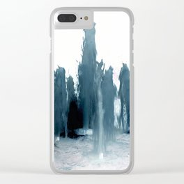 Negative Water Fountain Clear iPhone Case