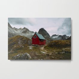 The Mint Hut in Hatcher Pass, Alaska Metal Print