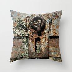 Old Unlocked Lock Throw Pillow
