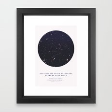 Hubble Extreme Deep Field Galaxies Framed Art Print