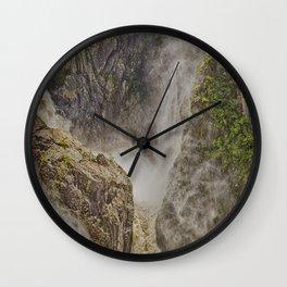 Beautiful waterfall in the rainforest Wall Clock