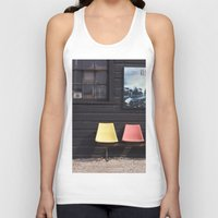 posters Tank Tops featuring Seats outside Heritage Posters by RMK Photography
