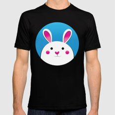 Chubby Bunny MEDIUM Black Mens Fitted Tee