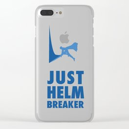 JUST HELM BREAKER BLUE Clear iPhone Case