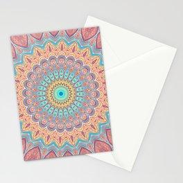 Jewel Mandala Faded - Mandala Design Stationery Cards