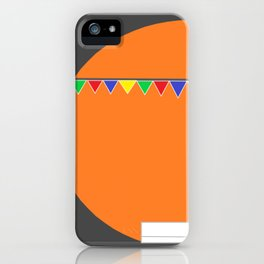 orange is the color of love  iPhone Case
