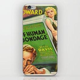 Vintage poster - Of Human Bondage iPhone Skin