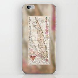 Long Island New York 1842 Mather Map iPhone Skin