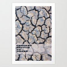 Cracked Art Print
