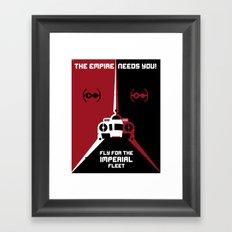 Fly for the Imperial Fleet Framed Art Print