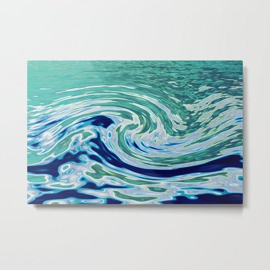 OCEAN ABSTRACT 2 Metal Print