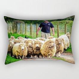 Flock On The Move. Rectangular Pillow