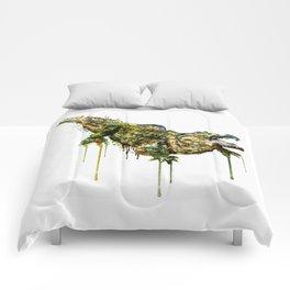 Alligator Watercolor Painting Comforters