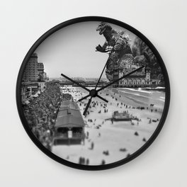 Old Time Godzilla in Atlantic City Wall Clock