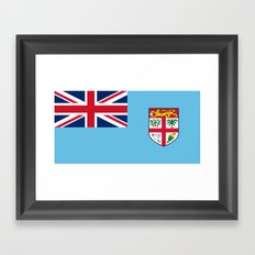 Flag of Fiji Framed Art Print