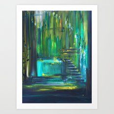 Ascension to Emerald City Art Print