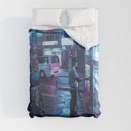 Smoke and Coffee Duvet Cover