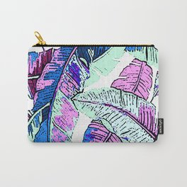 BANANA LEAF PALM PASTEL PINK AND BLUE Carry-All Pouch