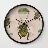 military Wall Clocks featuring Military by Tanya_tk