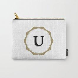 Vintage Letter U Monogram Carry-All Pouch