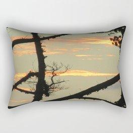 SUNSET BETWEEN A TREE Rectangular Pillow