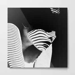 Shadow Lady Metal Print